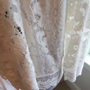 Lauren Michelle Sweaters - nwt women cream lauren Michelle shrug lace sweater